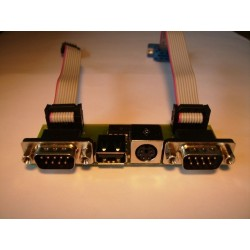 PS2 - USB - 2 x DB9 Bracket for Amiga 1200 :