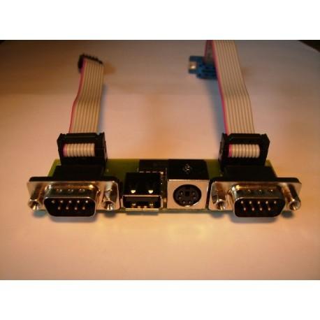 PS2 - USB - 2 x DB9 Bracket for Amiga 1200 :