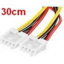 Molex power cable for floppy disk drive 30cm