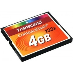 Carte Compact Flash 4Go Transcend 133x